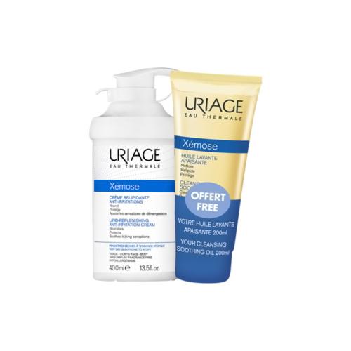 7469544-Uriage-Xémose-Creme-Relipidante-Anti-irritações-–-400ml-com-Oferta-Óleo-Limpeza-–-200ml