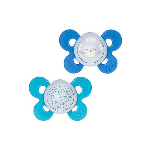 6046706-Chicco-Chupeta-Physio-Comfort-Night-Azul-Silicone-16-36m-–-2-unid.