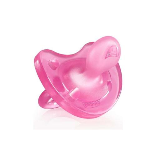 6976019-Chicco-Chupeta-Physio-Soft-Silicone-Rosa-6-16m