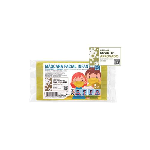 1010371-1-Máscara-de-Proteção-Individual-Infantil-Descartável-Amarela-–-5-máscaras