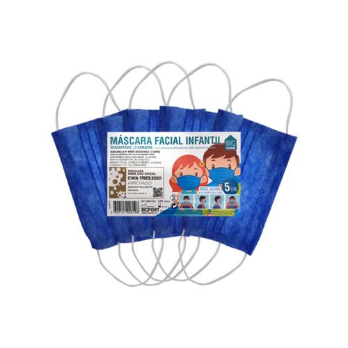1010371-2-Máscara-de-Proteção-Individual-Infantil-Descartável-Azul_5unidades