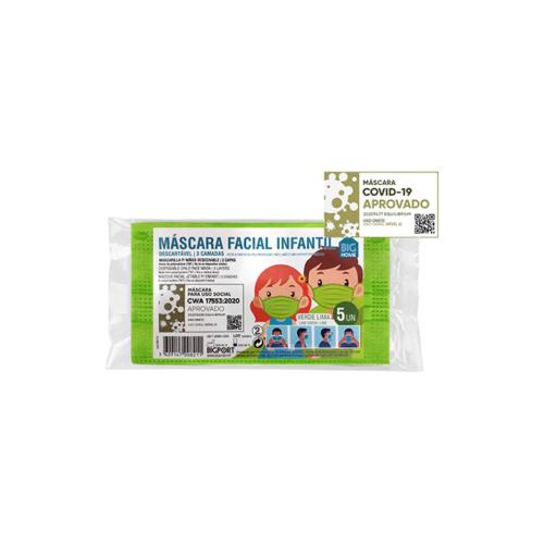 1010371-4-Máscara-de-Proteção-Individual-Infantil-Descartável-Verde-Lima—5-máscaras