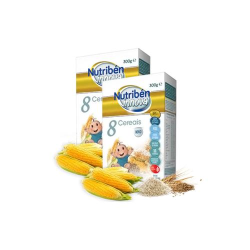 6256099-Nutribén-Innova-Papa-8-Cereais—300g-x2-Unid.-com-50%-Desconto-na-2ª-Embalagem