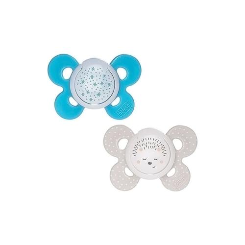 6046706-1-Chicco-Chupeta-Physio-Comfort-Night-Azul-Silicone-16-36m—2-unid.